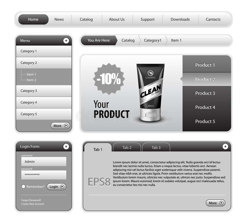 设计要素网站 向量例证