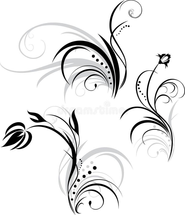 设计要素花卉三 皇族释放例证