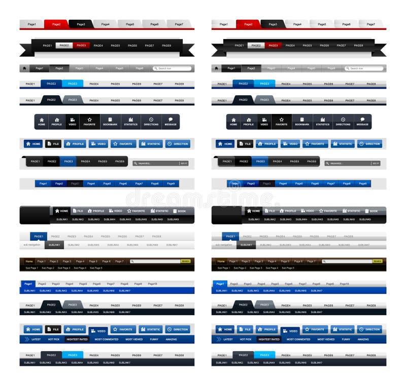 设计要素菜单万维网网站 皇族释放例证