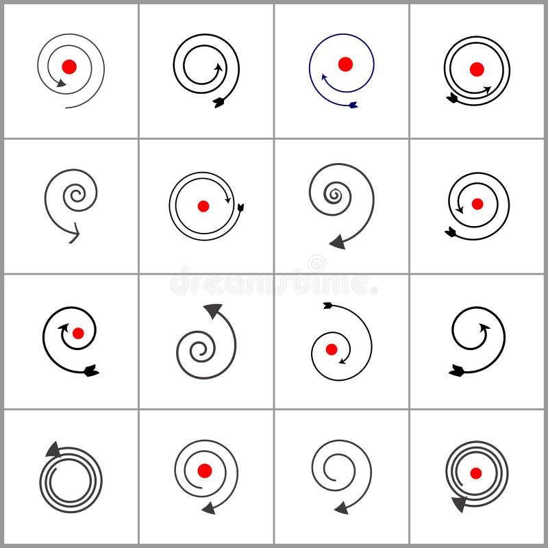 设计要素螺旋 抽象黑和红色象 皇族释放例证
