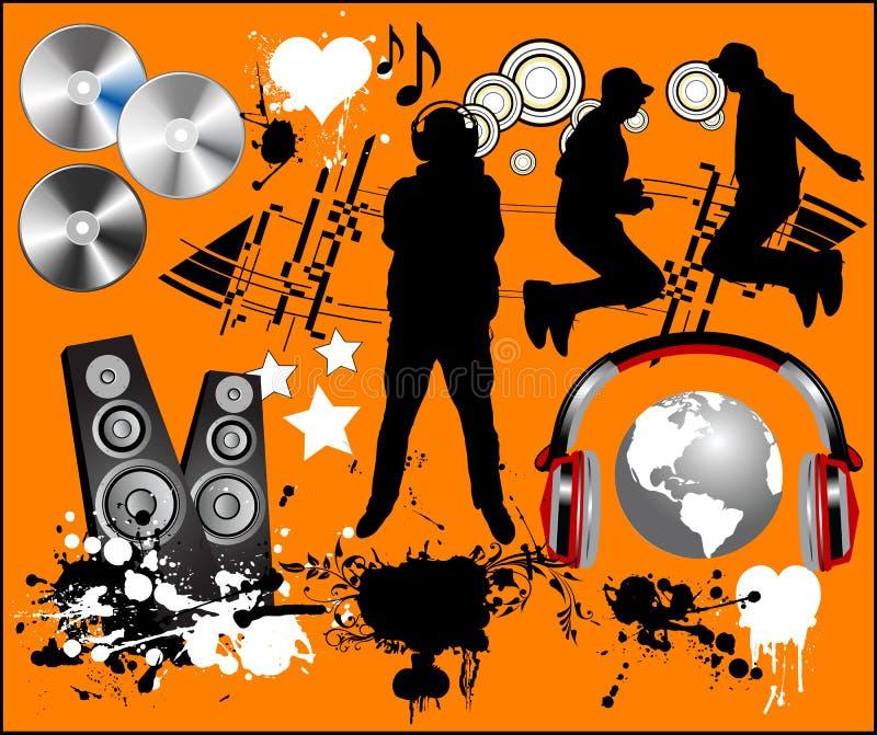 设计要素音乐 库存例证