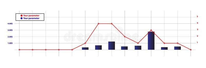 设计财政diagramm 库存例证