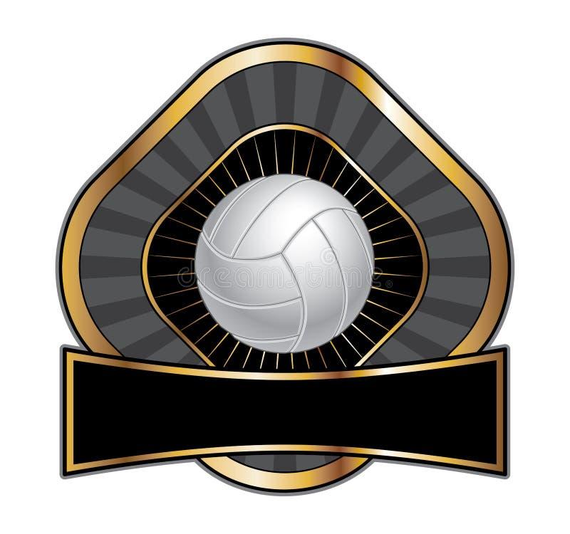设计金刚石模板排球 向量例证