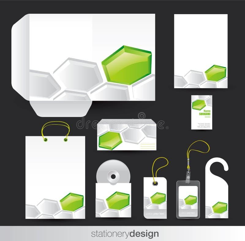 设计集合固定式 库存例证