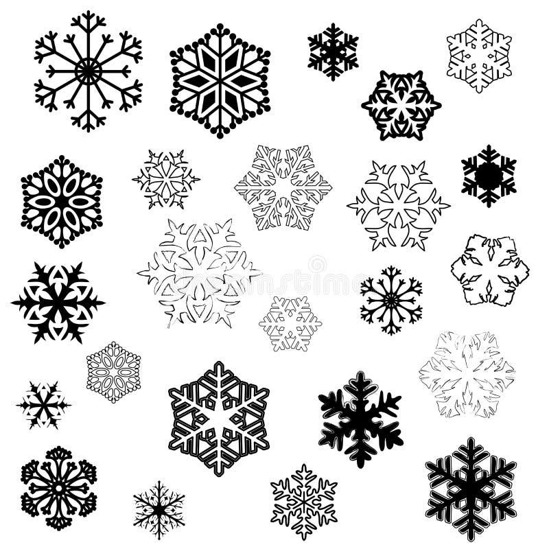 设计雪花 向量例证