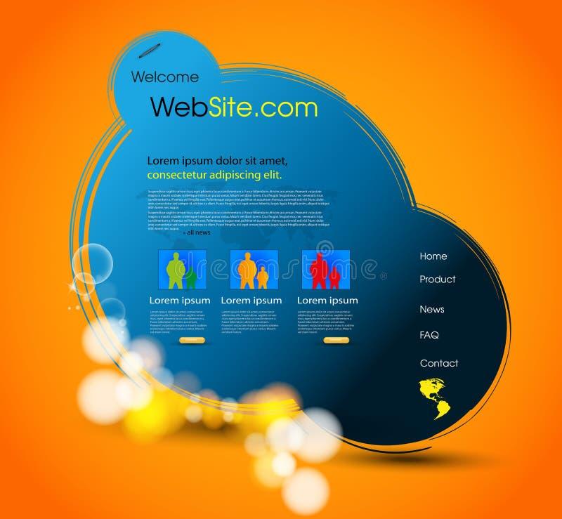 设计页模板万维网 皇族释放例证