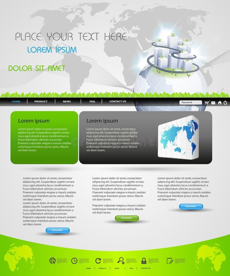 设计页模板万维网 库存例证