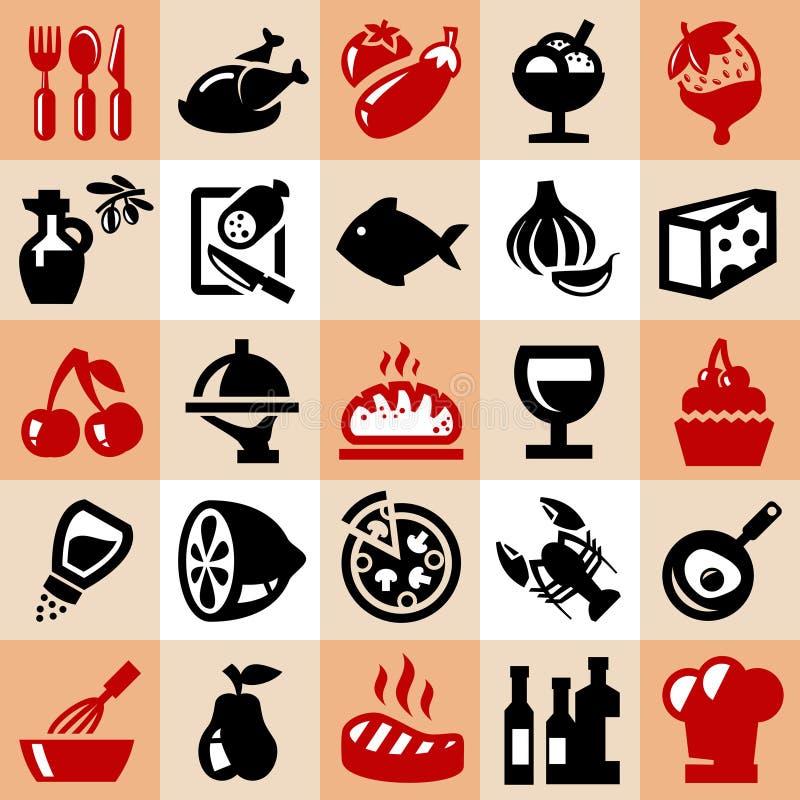 设计食物图标例证向量您 向量例证
