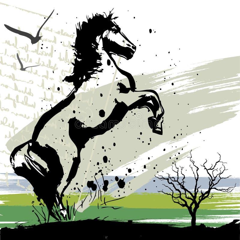 设计马向量 向量例证
