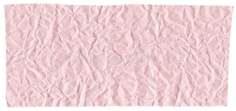设计,被弄皱的工艺纸,浅红色的抽象背景纹理的准备好框架  免版税库存照片