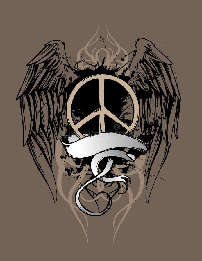 设计grunge和平 皇族释放例证