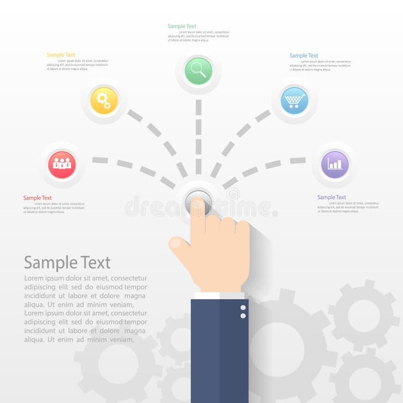 设计infographic模板 能为工作流布局使用 皇族释放例证