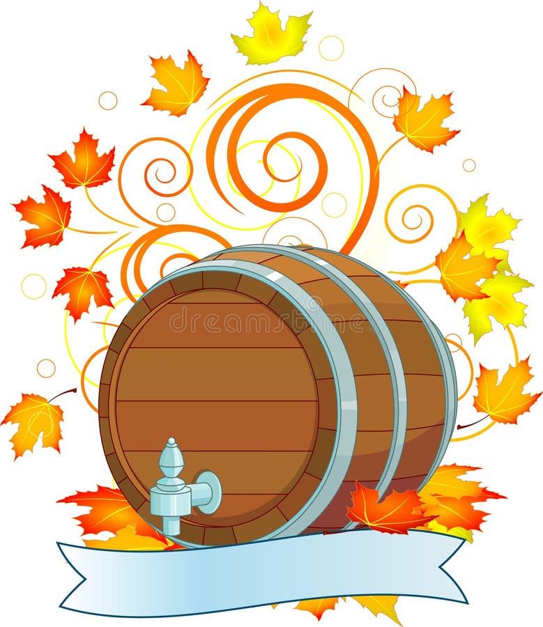 设计oktoberfest的小桶 向量例证