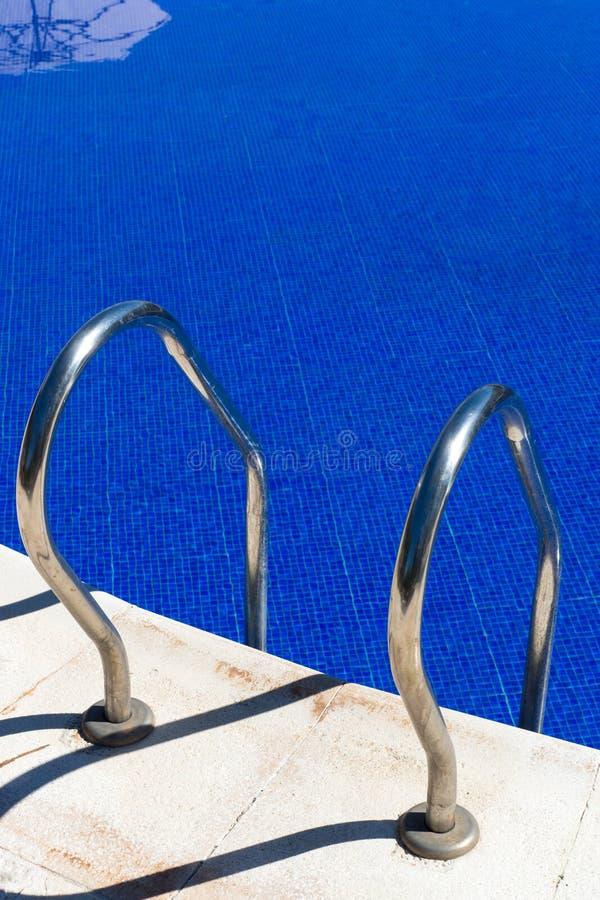 访问对游泳池 免版税库存图片