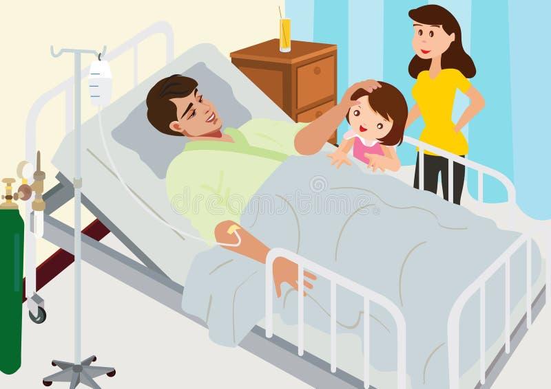 访问的患者在医院 库存例证