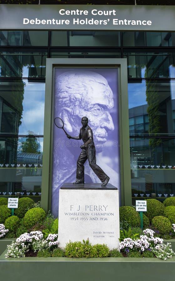 访问Wimbledon 免版税库存图片