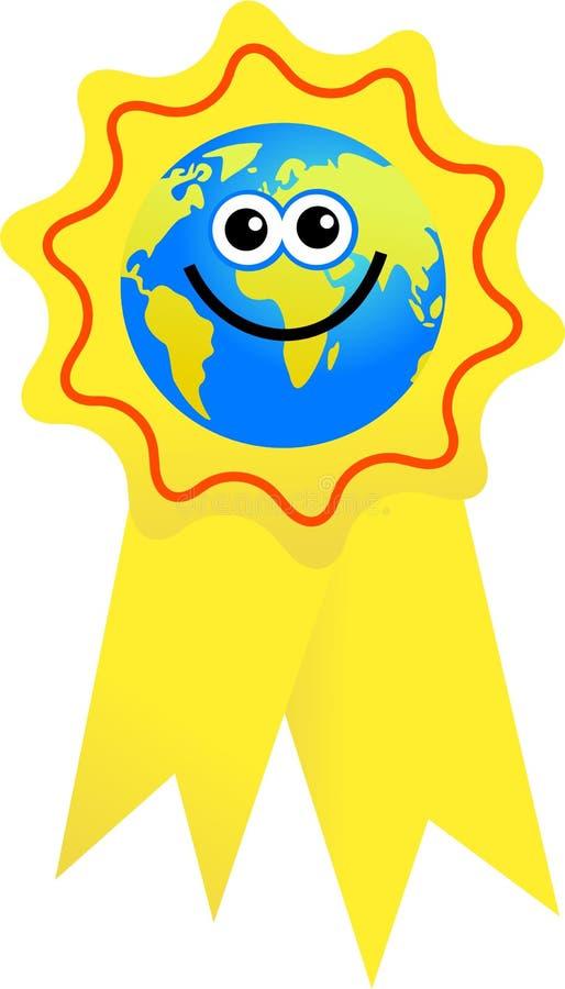 证书地球 向量例证