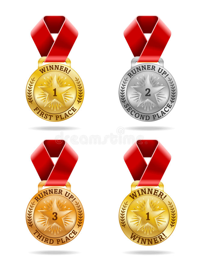 证书奖牌 皇族释放例证