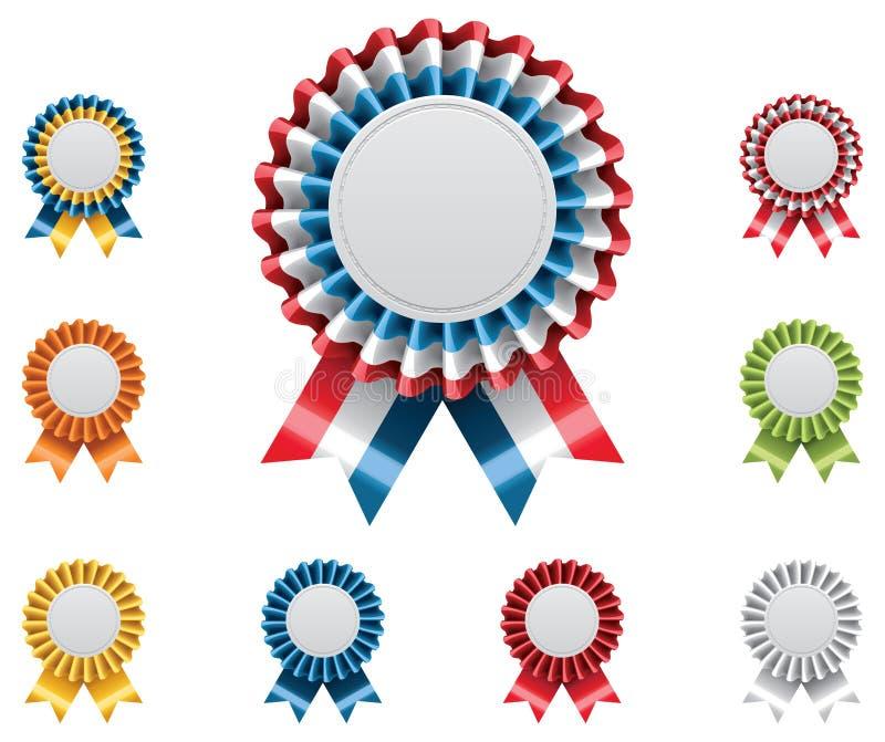 证书徽章被设置的向量 库存例证