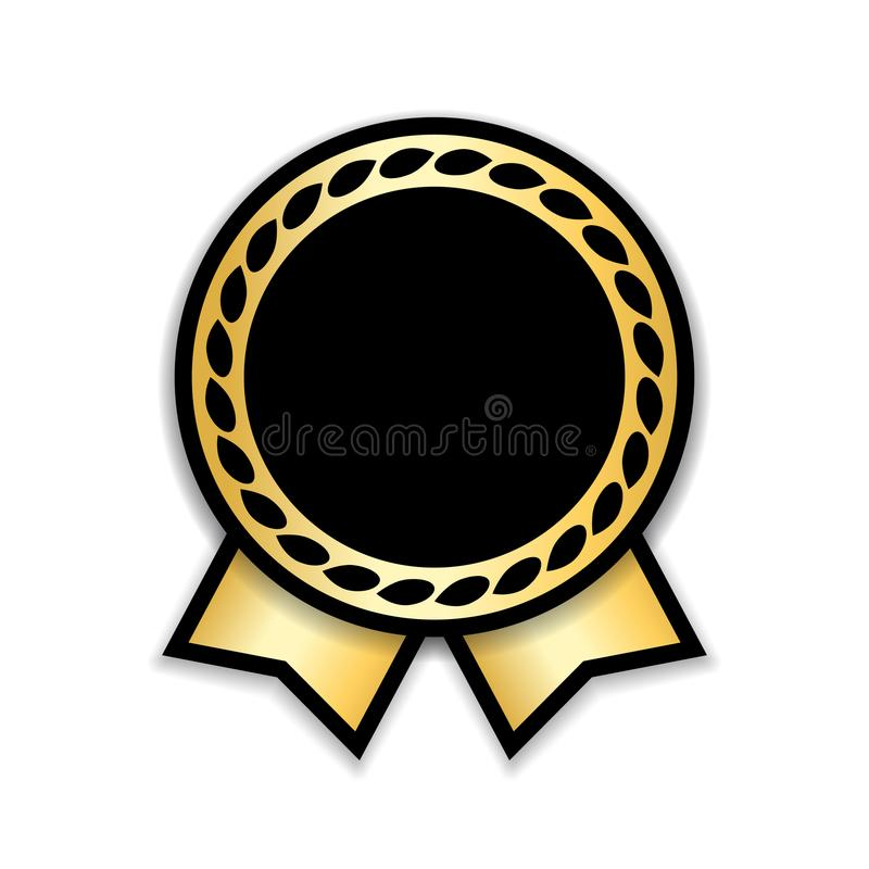 证书查出的丝带 金子设计奖牌,标签,徽章,证明 标志最佳的销售,价格,质量,保证或 向量例证