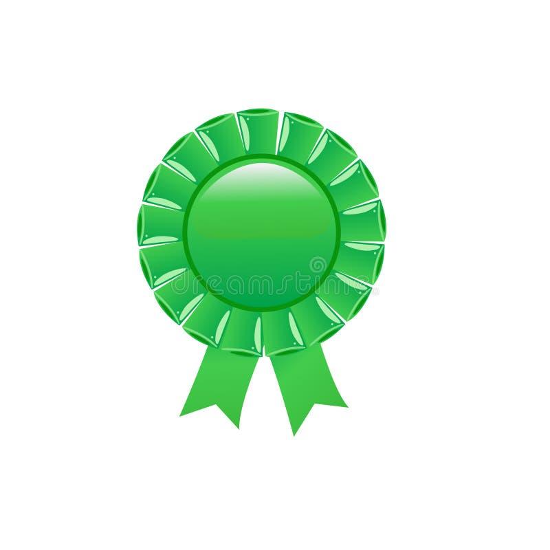 证书绿色玫瑰华饰 皇族释放例证
