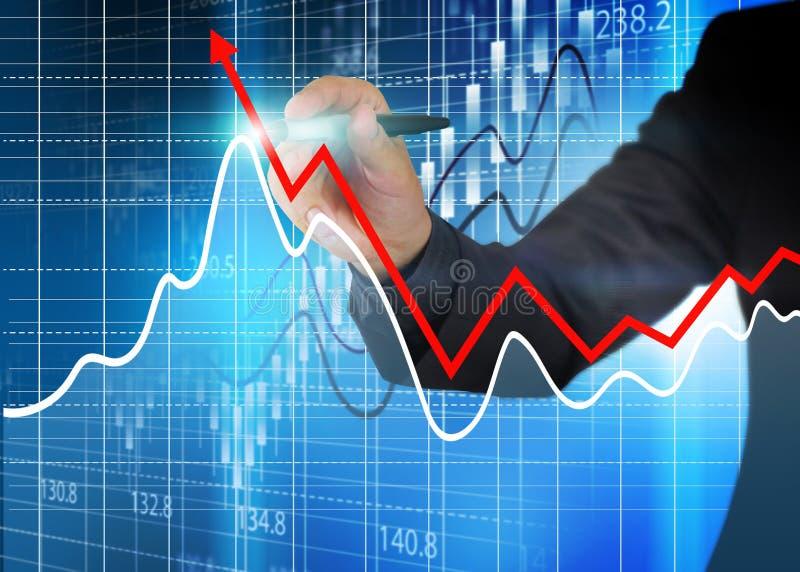 证券交易所图,经营分析图 库存照片