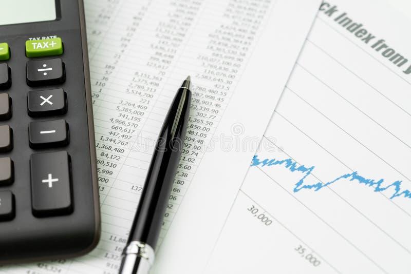证券交易所物价指数、预算、浓缩的经济或者的投资 免版税库存图片