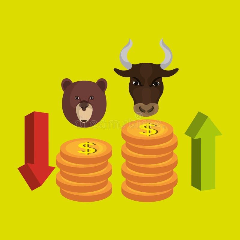 证券交易所设计 向量例证