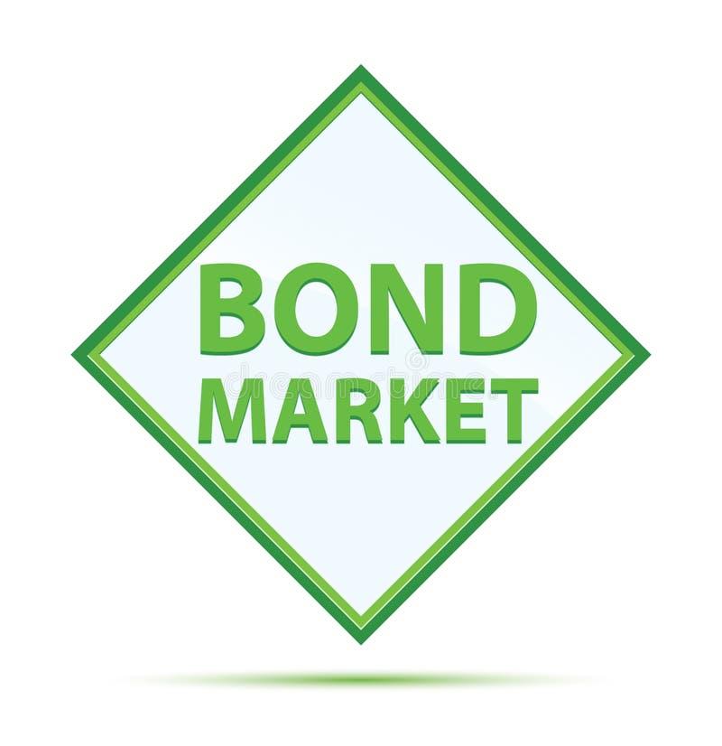 证券市场现代抽象绿色金刚石按钮 皇族释放例证
