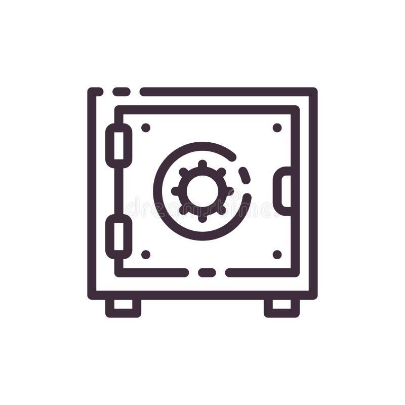 证券概念的向量例证 钢保险柜的象 免版税图库摄影