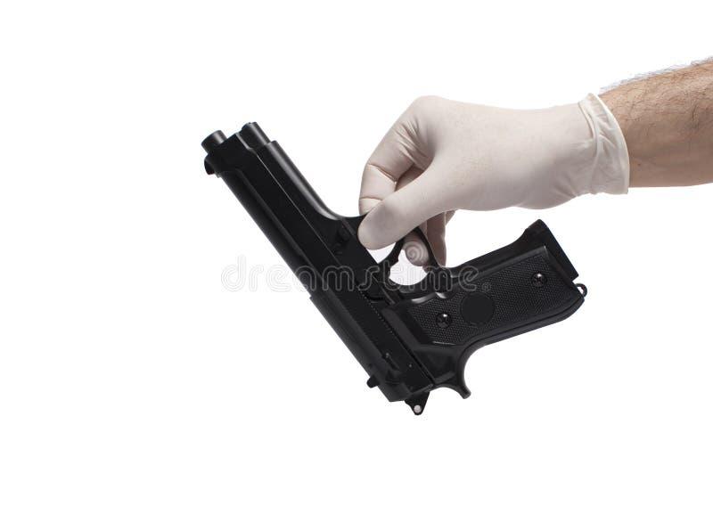 证据枪 图库摄影