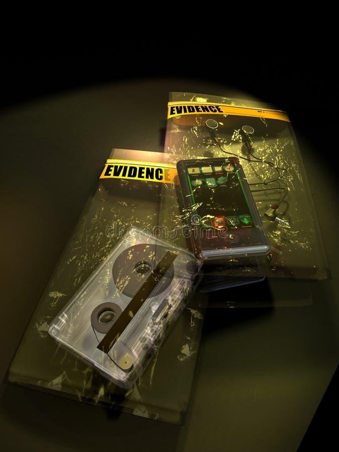 证据袋子 库存例证