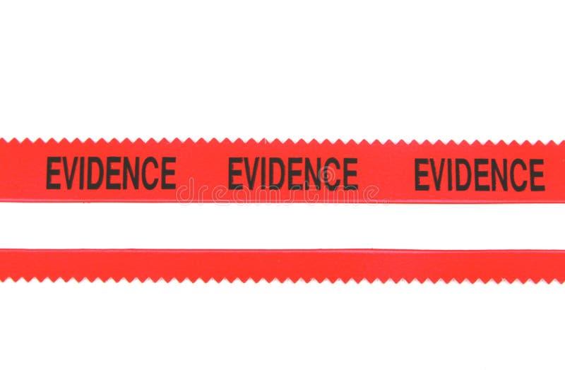 证据警察录制 免版税库存照片