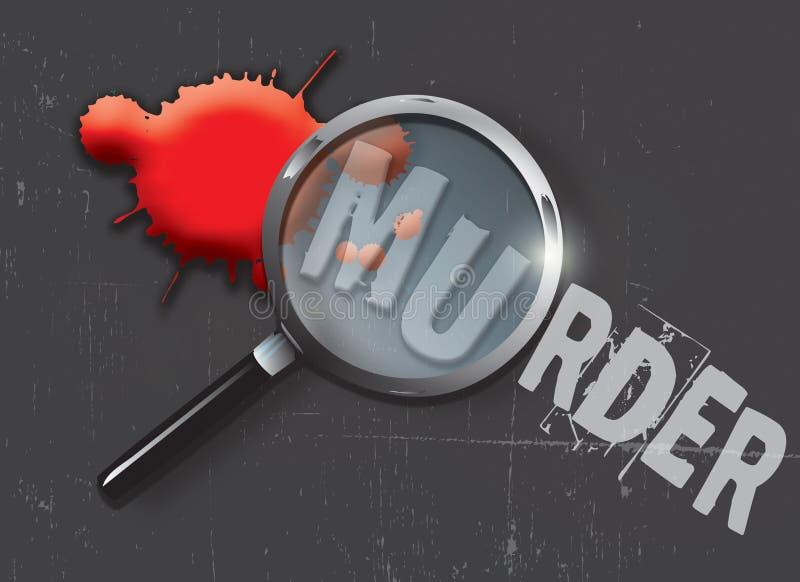证据谋杀 向量例证