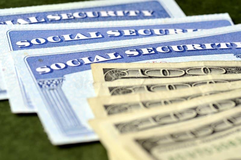 证明的社会保险卡 库存照片