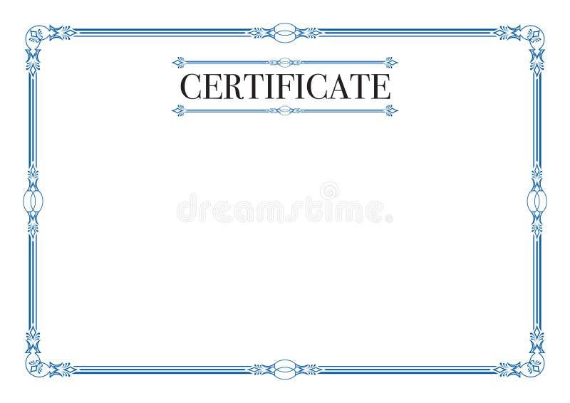证明的蓝色空白的边界 库存例证