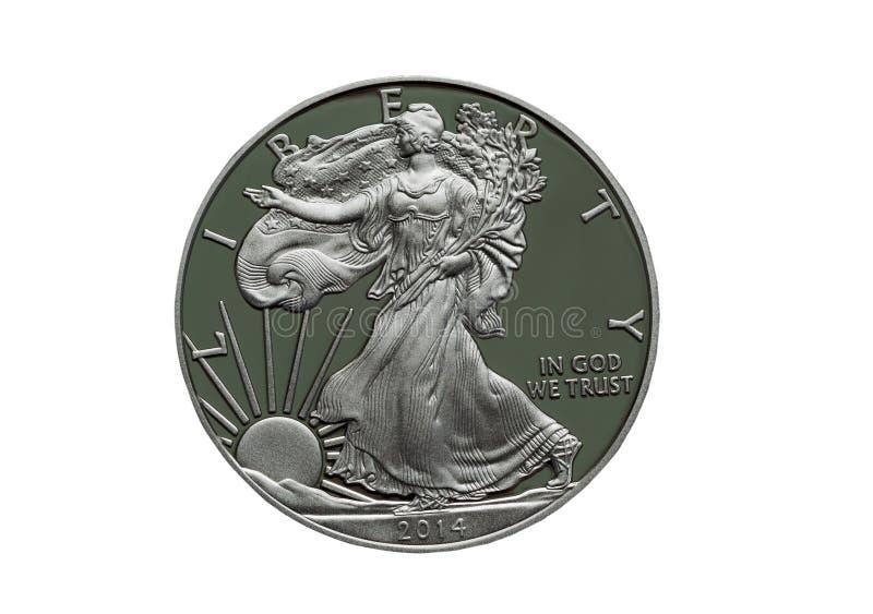 2014证明美利坚合众国银元 库存照片