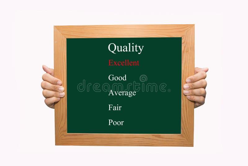 评估优秀质量 库存图片