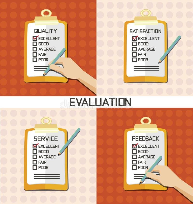 评估批准质量检查 库存例证