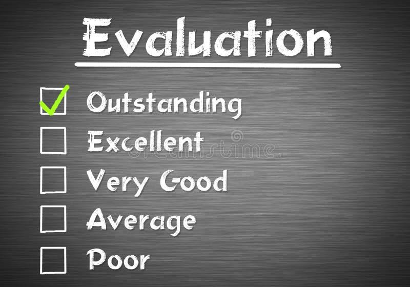 评估清单 向量例证