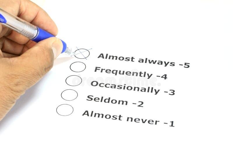 评估系统 免版税库存图片