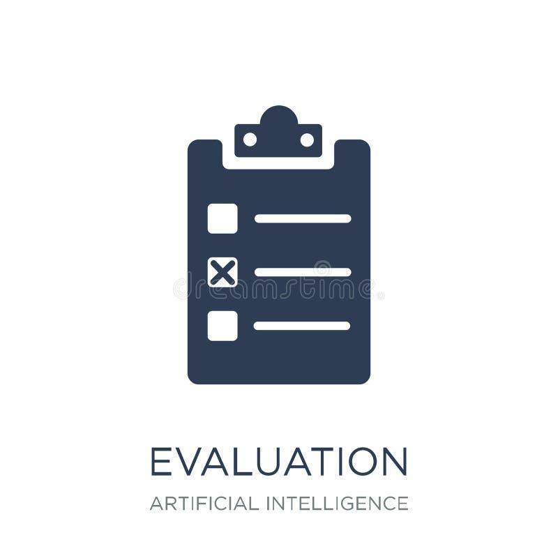 评估象 在白色bac的时髦平的传染媒介评估象 库存例证