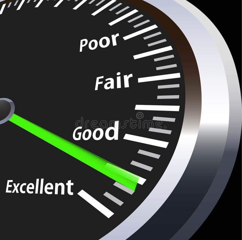 评估车速表 库存例证