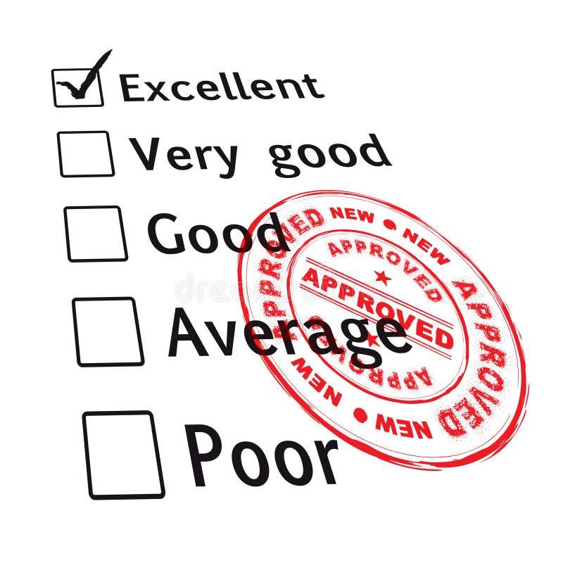 评估非常好的通过 库存例证