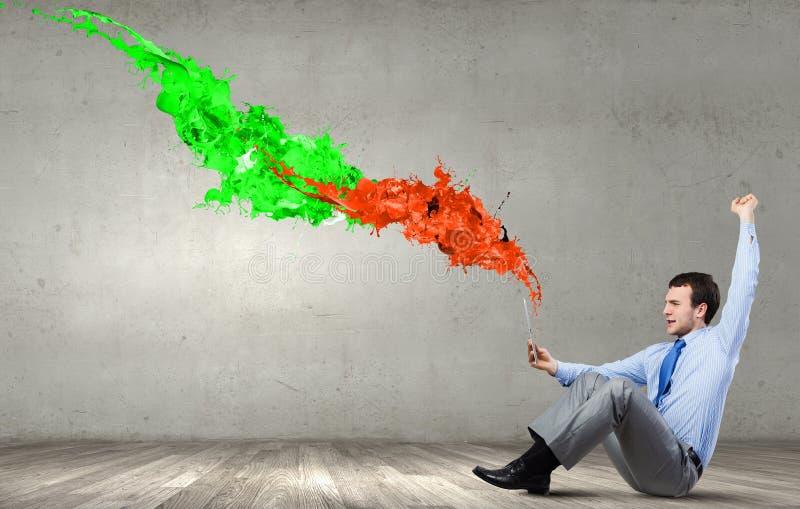 评估颜色表示 免版税库存图片