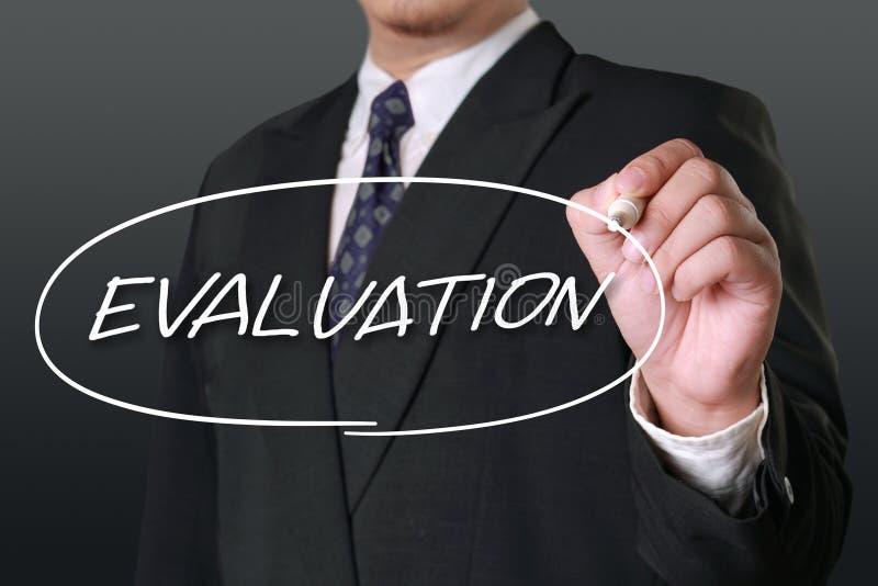 评估,企业审计监视回顾引述,措辞印刷术字法概念 免版税库存照片