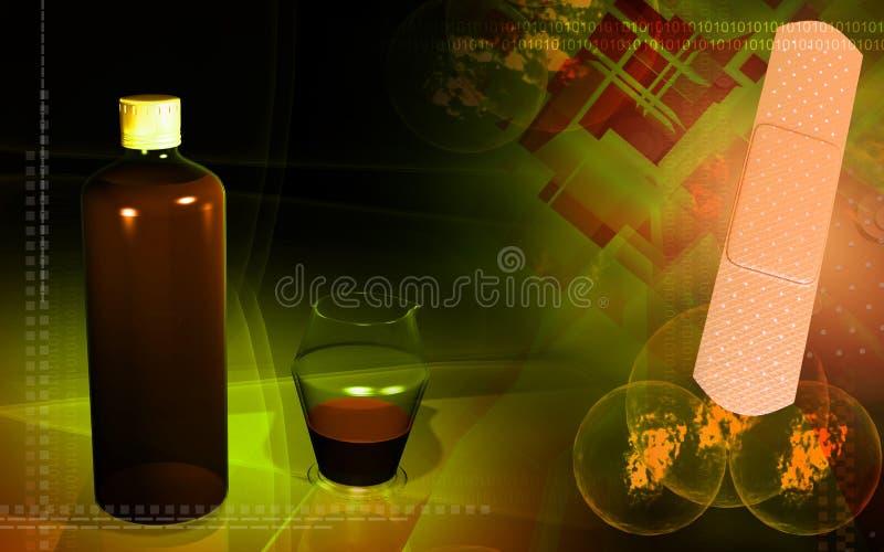 评定医疗医学plast花瓶的瓶 向量例证