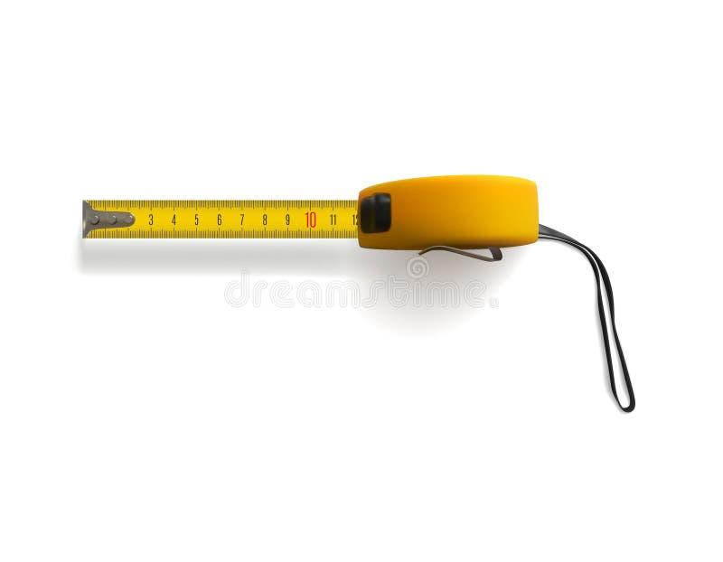 评定塑料磁带黄色 向量例证