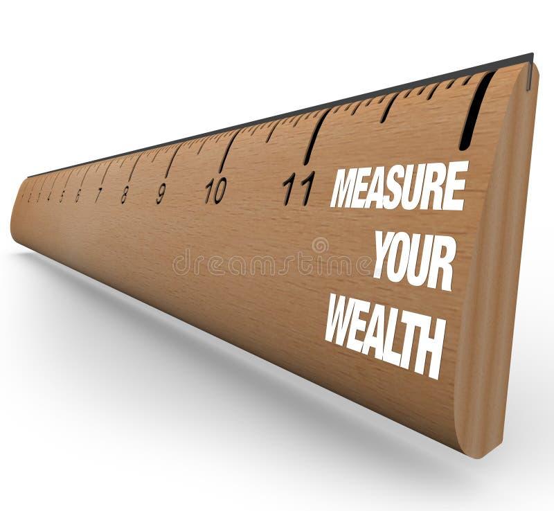评定您统治者的财富 库存例证