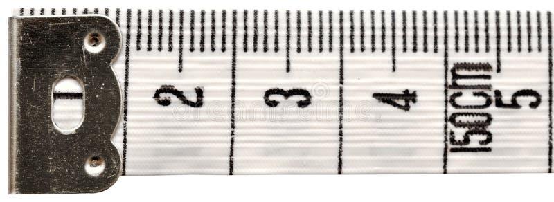 评定的磁带白色 库存图片